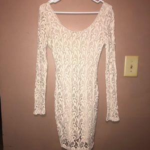 Ark & Co Boutique Long Sleeve Lace Bodycon Dress